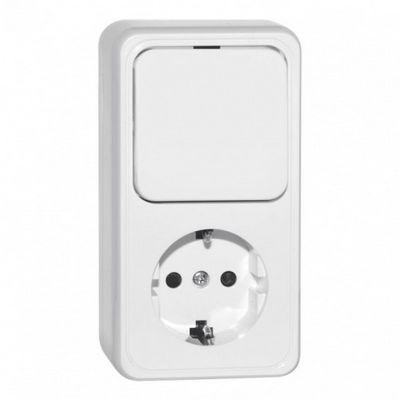 So schließen Sie einen Zwei-Tasten-Lichtschalter an eine Steckdose ...