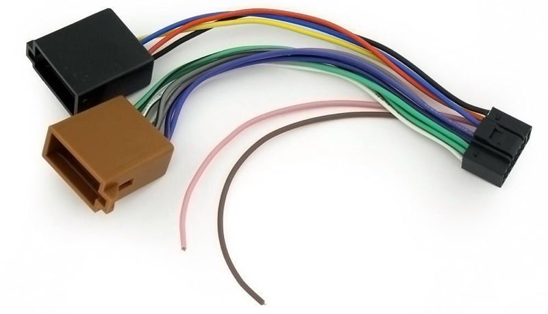 Anschluss von Kabeln eines Radio-Kassettenrekorders. Eine praktische ...