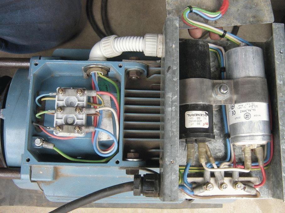 Phasenverschiebung 220 bis 380 für den Motor. Drehstrommotor - in ...