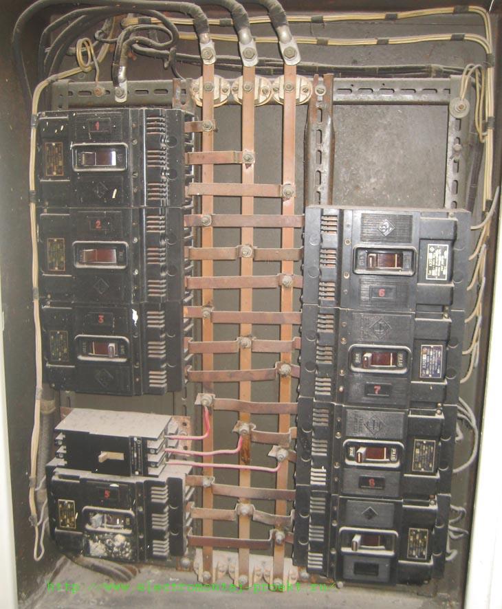 Geräteschild. Feuerschutztür in der Schalttafel - es gibt einige Nuancen