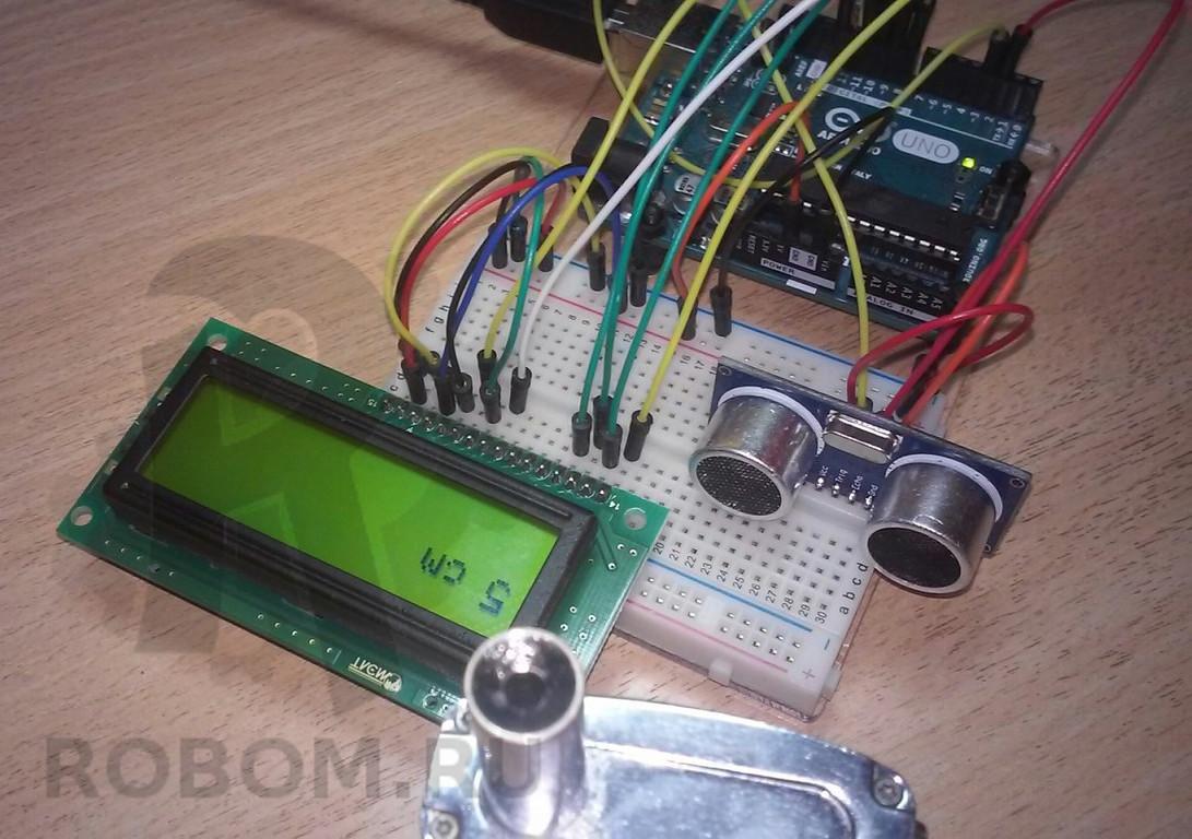 Arduino ultraschall entfernungsmesser hc sr